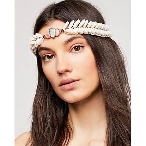 Free People x Ouroboros Shell Halo Headpiece NEW